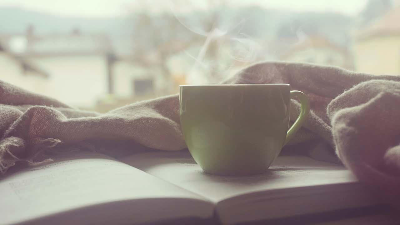 Kaffekop med damp