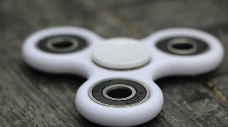 hvid Fidget spinner