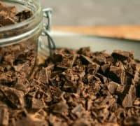 chokolade i en skål