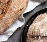 brød lavet af rugmel med gluten